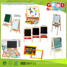 2015Cheap e alta qualidade de madeira Magentic brinquedos Aids Cavalete e placa, Hotsale Wooden Drawing Board, Educacional Kids Pintar o quadro