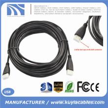 Câble HDMI 10M 30FT plaqué or Câble HDMI Slim V1.4 HD 1080P pour téléviseur LCD HDTV (Capuchons anti poussière et paquet PP)