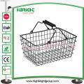 Cesta de compras de fio de metal de loja / supermercado