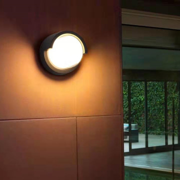 Aplique de pared LED de forma redonda impermeable al aire libre 7W