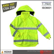 Yellow Reflective Police Hi-Vis Workwear Jacket