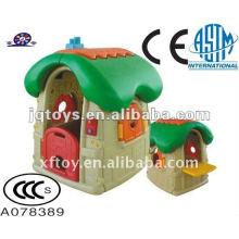 Equipo de playhouse plástico de fortaleza traviesa para niños