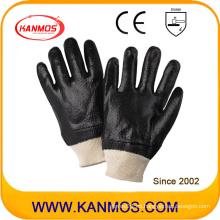 Negro anti-solvente PVC sumergido guantes de trabajo de seguridad industrial (51203R)