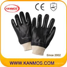 Черные противорастворимые ПВХ-погружные рабочие рабочие перчатки (51203R)