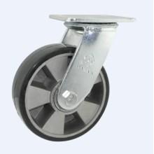 H17 Roulement à billes double type à service lourd Type pivotant PU sur roulette en aluminium à roue à noyau