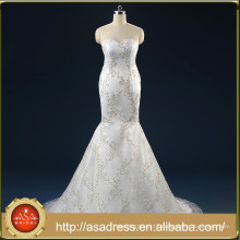 ASAW02 Crystals Beaded Real Photo Bridal Dresses Bling Bling Tulle Luxury Mermaid Sweetheart Wedding Dresses