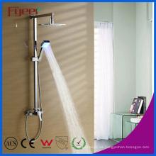 Set de ducha de lluvia LED de latón con baño en la pared de Fyeer (QH336F)