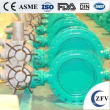 Flange type butterfly electric water valve