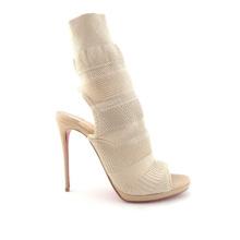 Open Toed Boots With Heels Sandals 2020 Women Elastic Knitting Nude Stiletto Heels Leaking Heel Shoes Women'S Boots