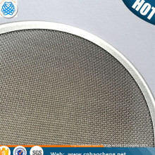 0.5 2 10 15 25 40 70 100 Microns Porous SUS304 316L SS Sintered plastic extruder filter disc Stainless Steel mesh Filter Disc