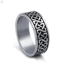 Anéis de prata de aço inoxidável de declaração de aço inoxidável