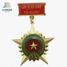 Бесплатный образец Золотая Звезда изготовленный на заказ значок Полиций металла медаль для сувенир