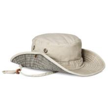 Chapéu de disquete de balde de algodão personalizado com atacado de corda
