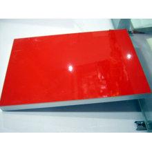 Доска красного цвета УФ