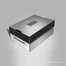 Boîte en carton ondulé rectangulaire pour chaussures en papier kraft