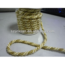 Cordón trenzado trenzado de 5 mm de poliéster