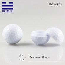 2014 única bola de golfe esportiva forma maquiagem lábio bálsamo / bálsamo labial caso com amostra gratuita