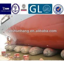 O airbag de borracha durável de levantamento dos objetos pesados usou-se para o lançamento do navio