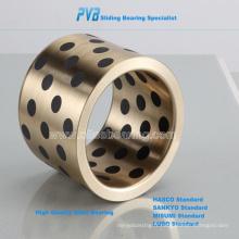 Roulements spéciaux en laiton à haute résistance avec lubrifiant solide intégré, Oiles 500
