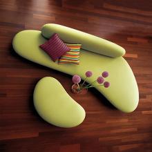 Современный диван галька и Луна софа творческий набор ткань диван