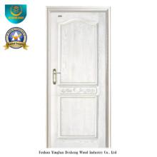 Puerta de madera sólida de estilo moderno para el interior (color blanco)