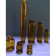 20ml ambre vissé flacon en verre tubulaire pour l'emballage de l'huile essentielle