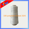 100 spun polyester waxed thread for knitting