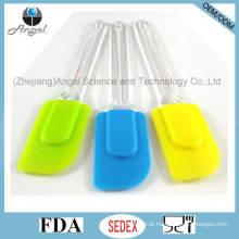 Espátula de cozimento de silicone de tamanho médio com manípulo PS Ss03