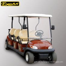 6 сидений корзину 48В электрический гольф на продажу, улица-правовым электрический автомобиль, электрический sightseeing автомобиль