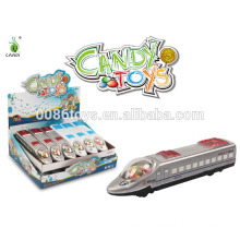 2014 new funny 20cm Pull back candy train toy
