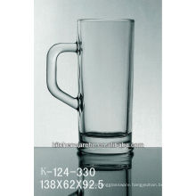 drink glass with handle/thick bottom drink glass/machine made drink glass/high quality drink glass with handle