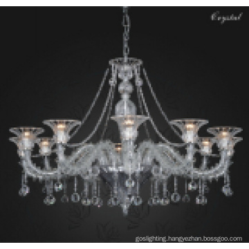 Graceful Glass Pendant Lamp with Crystal Drop (90015-12)