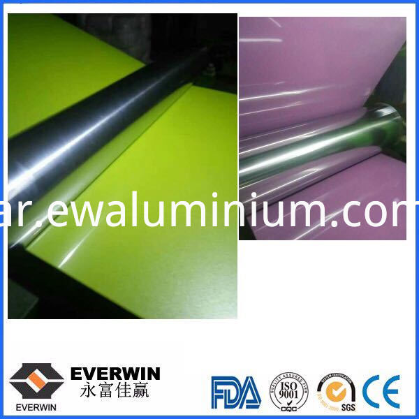 rolling of color coated aluminum coil