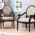 Carved Upholstery Side Armchair For Living Room
