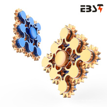 Metal Hand Held Spinner 188 Bearing 9 Gears Linkage Fidget Spinner Toy Wind Spinner for Adult Portable EDC Fidget Toy