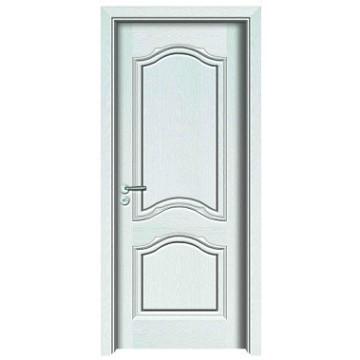 Porte en bois de couleur blanche