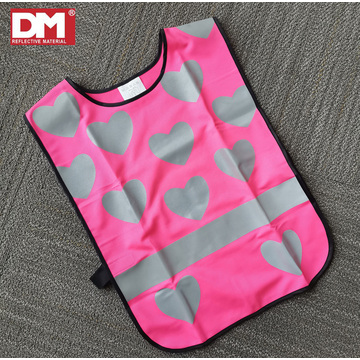Children's Hi Visibility Poncho Vest with Heart Pattern