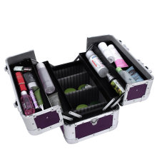 New Pink Aluminum Metal Nail Beauty Case Beauty Cases Vanity Cases Multi-Case Beauty Case Box with Floors