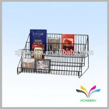 Factory supplier wholesale fashion stylish metal countertop retail cd dvd display stand