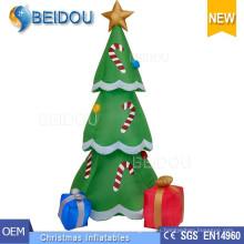 Árboles de Navidad al por mayor que encienden el árbol de navidad inflable gigante blanco