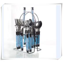 Utensílios de cozinha 24PCS talheres de aço inoxidável talheres de cozinha bife de cozinha
