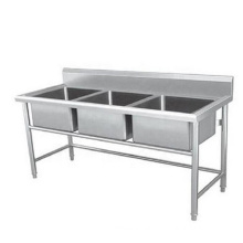 single bowl sus 304 stainless steel wash basin kitchen lab sink