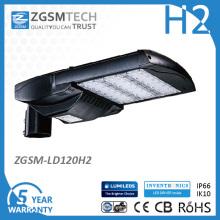 Luz de calle LED de 120W Shoebox Light Street Dlc Approved