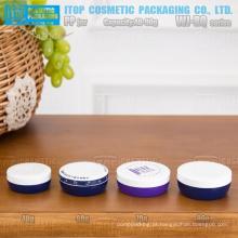 WJ-RQ série 40g, 60g, 70g e 90g super plana design simples bonito redondo frasco cosmético pp para embalagem