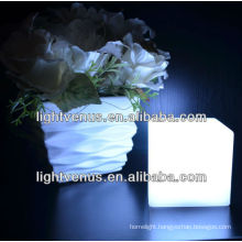 Battery Operated 10cm Cube battery operated table lamps with shade