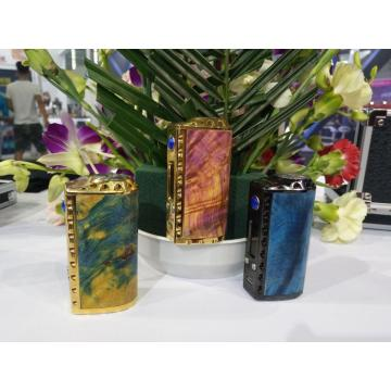 26650 18650 Madera estabilizada TC Box Mod vape