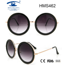 Gafas de sol del acetato de la manera del estilo de la mujer (HMS462)