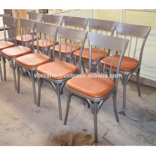 Industrial Leather Cafe Restaurant Chair New Design