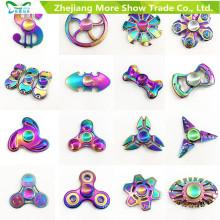 Rainbow Colors Metal Aleación EDC Hand Fidget Spinner High Speed Focus Toy Regalos