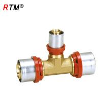 B17 4 13 t-joint imprensa montagem latão imprensa encaixe T conector
